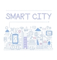 Smart City vector image vector image