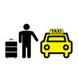sticker logo or icon taxi service vector image