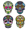 sugar skull vector image