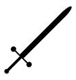 Sword icon vector image vector image