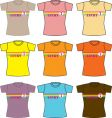 T-shirt set and collection vector | Price: 1 Credit (USD $1)