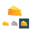 tasty cheese in different design vector image vector image