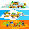 taxi service horizontal banners vector image