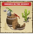 Two hours in the desert A funny scene vector image vector image