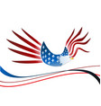 usa eagle independence icon vector image