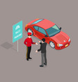 valet parking service composition vector image vector image