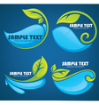 Water and leaves stickers and symbols on blue back vector | Price: 1 Credit (USD $1)