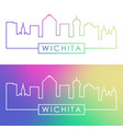 wichita skyline colorful linear style editable vector image vector image