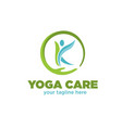 yoga care logo designs vector image
