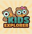 kids explorer vector image