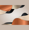 3d abstract golden black copper metallic wave