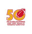50 Pro Football Championship Santa Clara vector image vector image