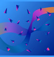 abstract background with color fluid shapes vector image vector image