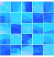 Abstract mosaik blue background vector image