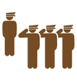 Army icon from Business Bicolor Set vector image