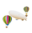 balloons and airship vector image vector image
