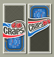 banners for craps gamble vector image vector image