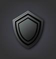 black antivirus shield on a gray background vector image vector image