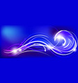 blue abstract background vector image vector image