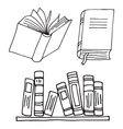 Books icon isolated vector image vector image