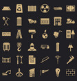 building construction icons set simple style vector image vector image