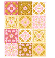 ceramic tile pattern with lotus vector image