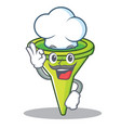 chef funnel character cartoon style vector image vector image