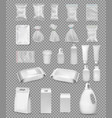 collection polypropylene plastic packaging vector image