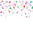 confetti explosion isolated on white background vector image vector image