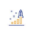development plan line icon launch startup vector image