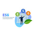 esg concept environmental social and vector image vector image