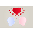 faces and hearts vector image vector image