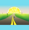 fantastic landscape road to horizon citrus vector image vector image