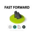 Fast forward icon in different style vector image