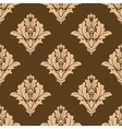 Floral seamless pattern with brown and beige vector image vector image