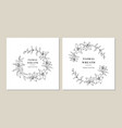 floral wreath set lily flowers circle monogram vector image vector image