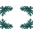 four blue realistic fir branches placed in the vector image
