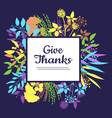 give thanks card for thanksgiving day vector image