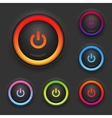 Glowing Power Button Set vector image