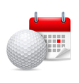 Golf ball and calendar vector image vector image