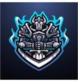 guardian knight esport mascot logo vector image vector image