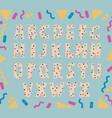 hand drawn polka dot alphabet vector image