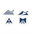 island investation logo up abstract a logo m road vector image