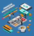 isometric business people concept vector image vector image