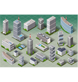 Isometric European Buildings vector image vector image
