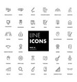 line icons set university vector image vector image