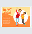 little boy bullying by teenager demonstration of vector image vector image