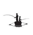Men fishing cartoon vector image