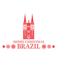 Merry Christmas Brazil vector image vector image