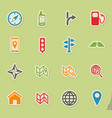 navigation simply icons vector image vector image